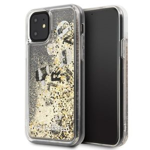 Karl Lagerfeld Black & Gold Glitter iPhone tok