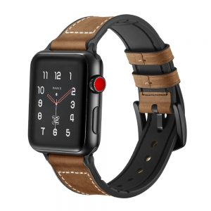 Tech-Protect Osoband 42/44mm Apple Watch kompozit bőr szíj (barna)