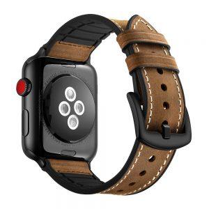 Tech-Protect Osoband 42/44mm Apple Watch kompozit bőr szíj (barna)