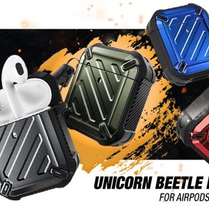 Supcase Unicorn Beetle Pro Apple AirPods tartó több féle színben