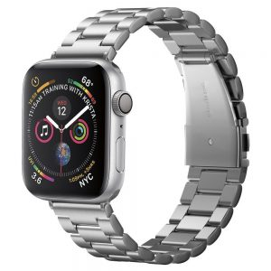 Spigen Modern Fit Band Apple Watch fém szíj 42/44mm (ezüst)