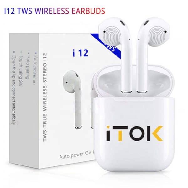 i12 TWS vezetéknélküli fülhallgató iTok