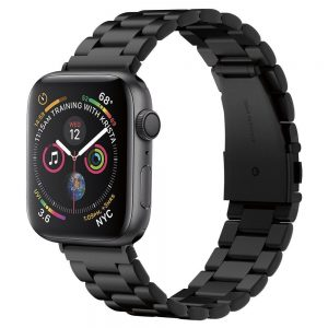 Spigen Modern Fit Band Apple Watch fém szíj 42/44 mm (fekete)