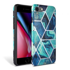 Tech-Protect Marble iPhone 7/8/SE 2020 szilikon tok (kék)