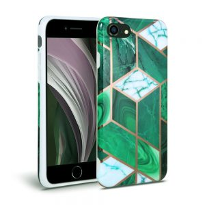 Tech-Protect Marble iPhone 7/8/SE 2020 szilikon tok (zöld)