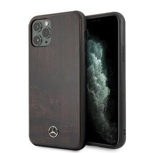 Mercedes iPhone 11/11 Pro/11 Pro Max rózsafa telefontok (barna)