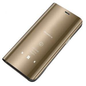 Clear View telefontok Samsung Galaxy A10 / Galaxy M10 (arany)