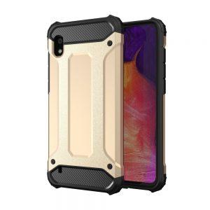 Hybrid Armor Case Tough Rugged Samsung Galaxy A10 telefontok (arany)