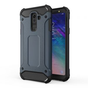 Hybrid Armor Case Tough Rugged Samsung Galaxy A6+ 2018 telefontok (kék)