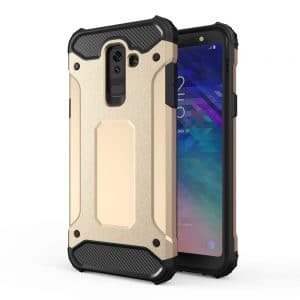 Hybrid Armor Case Tough Rugged Samsung Galaxy A6+ 2018 telefontok (arany)