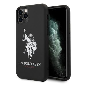 US Polo Silicone Collection iPhone 11 Pro Max telefontok (fekete)