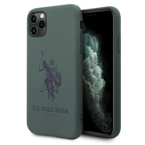 US Polo Silicone Collection iPhone 11 Pro Max telefontok (zöld)