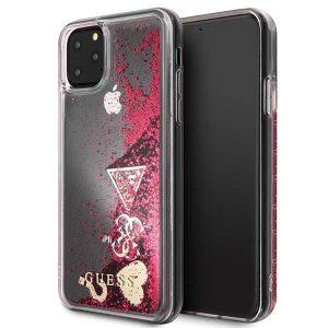 Guess Glitter Charms iPhone 11 Pro Max telefontok (málna)