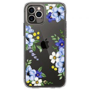 Spigen Cyrill Cecile iPhone 12 / iPhone 12 Pro telefontok Midnight Bloom (átlátszó)